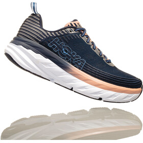 Hoka One One Bondi 6 Running Shoes Women Mood Indigo/Dusty Pink